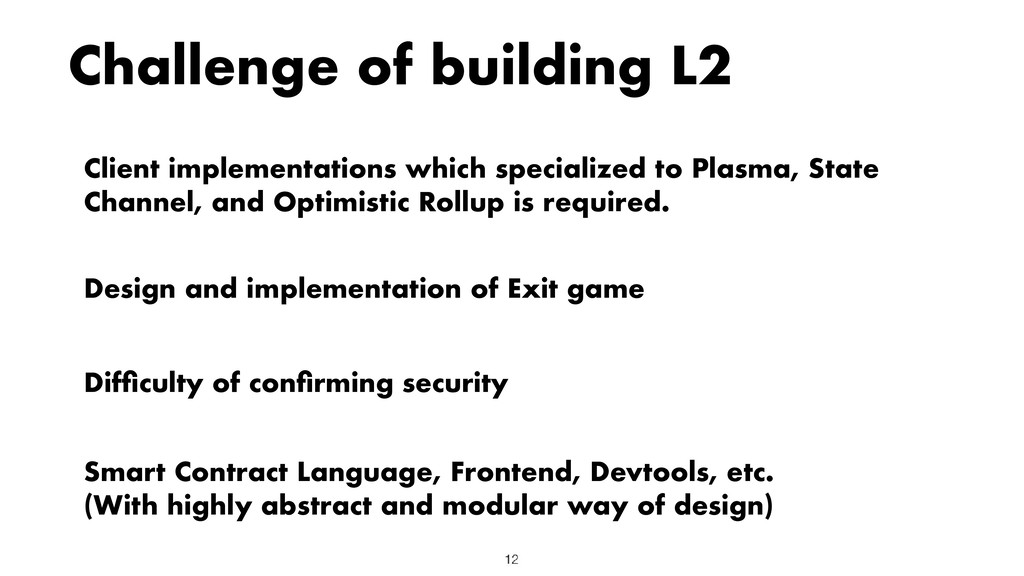 Challenge of building L2 Client implementations...