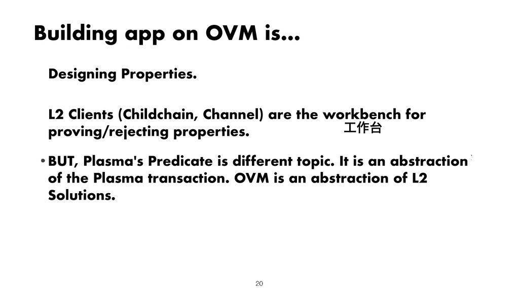 Building app on OVM is... Designing Properties....