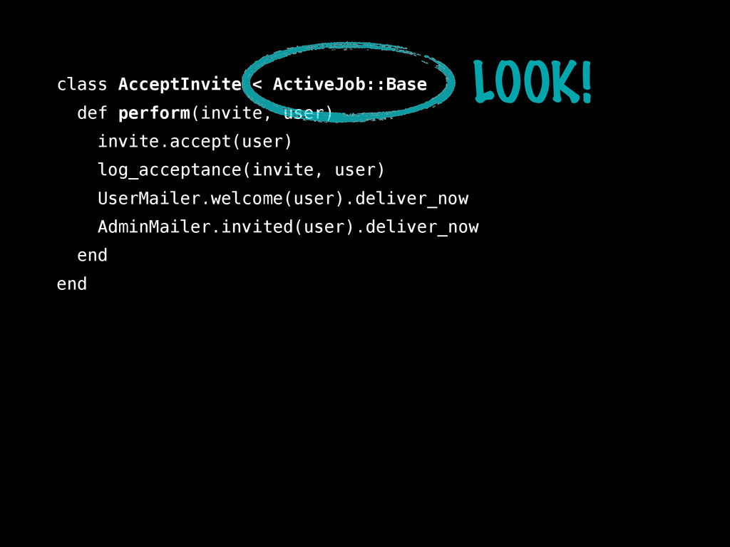 class AcceptInvite < ActiveJob::Base def perfor...