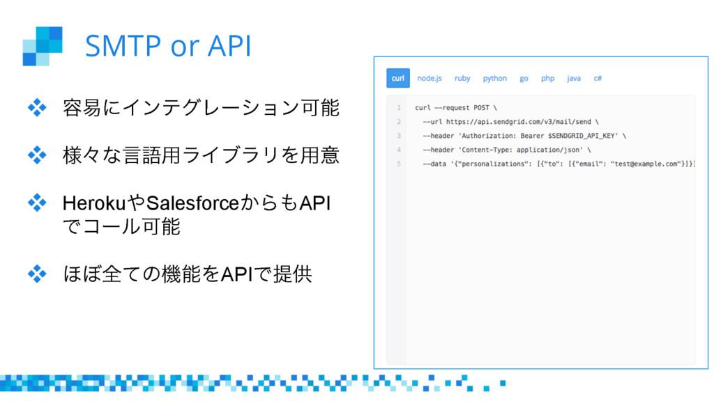 SMTP or API  ༰қʹΠϯςάϨʔγϣϯՄ  ༷ʑͳݴޠ༻ϥΠϒϥϦΛ༻ҙ...