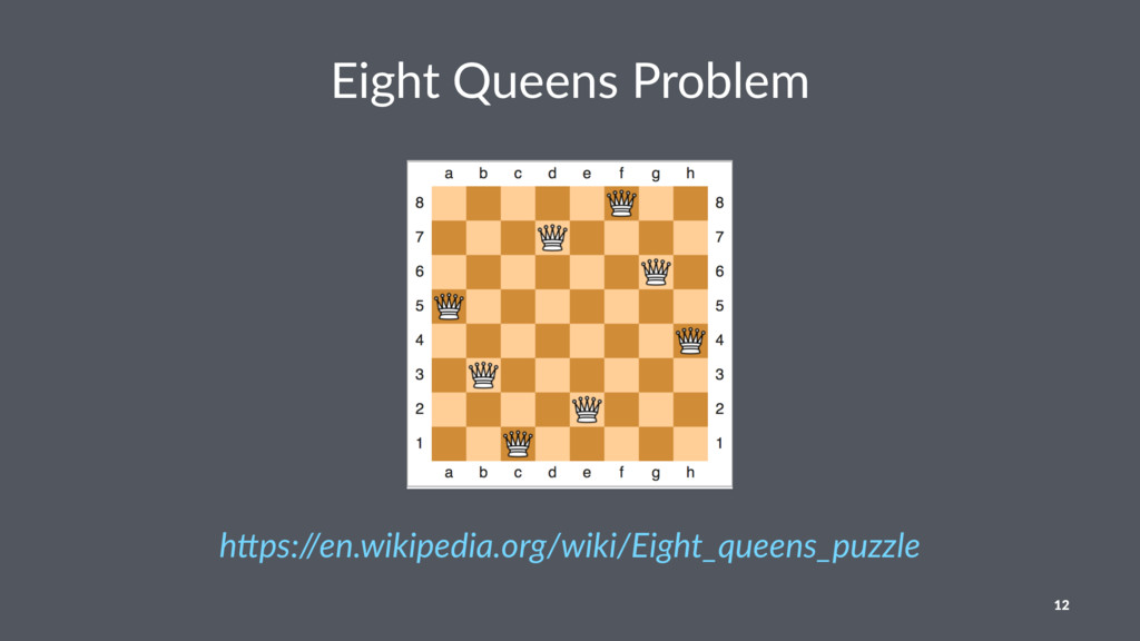 """Eight Queens Problem h""""ps://en.wikipedia.org/wi..."""
