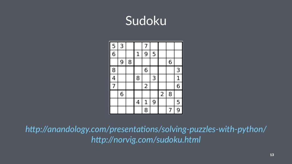 "Sudoku h""p://anandology.com/presenta4ons/solvin..."