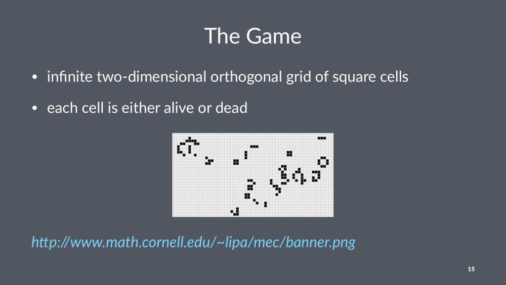 The Game • infinite two-dimensional orthogonal g...