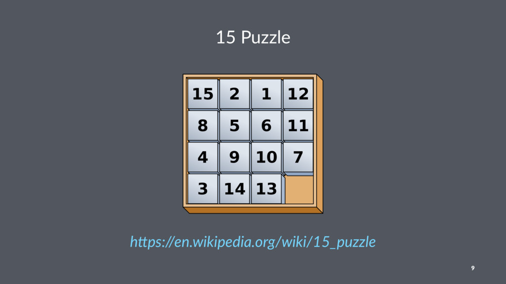 """15 Puzzle h""""ps://en.wikipedia.org/wiki/15_puzzl..."""