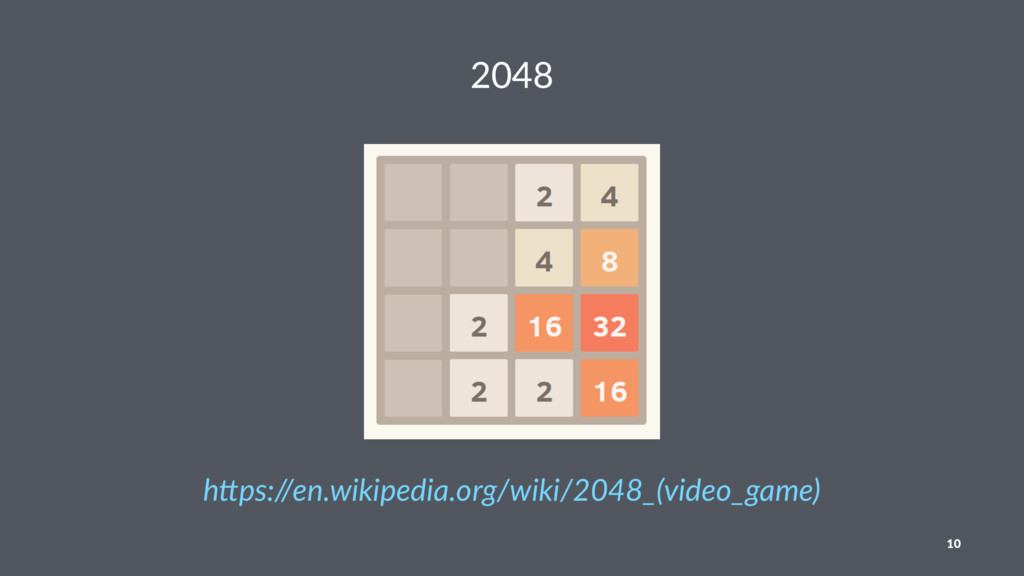 """2048 h""""ps://en.wikipedia.org/wiki/2048_(video_g..."""