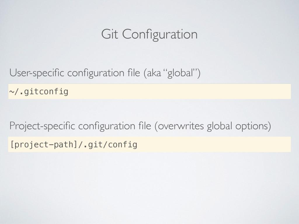 Git Configuration User-specific configuration file ...