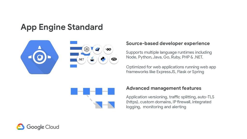 App Engine Standard Source-based developer expe...