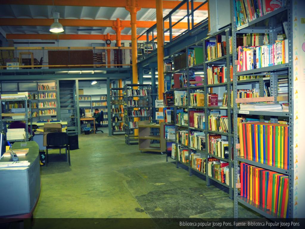 Biblioteca popular Josep Pons. Fuente: Bibliote...