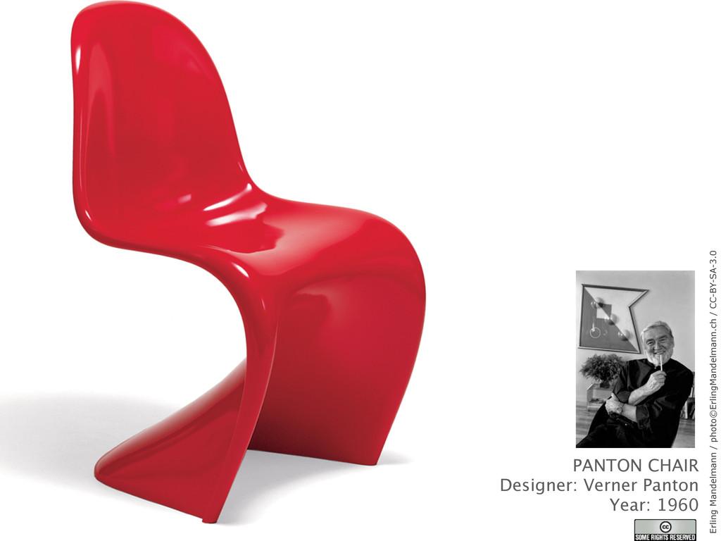 PANTON CHAIR Designer: Verner Panton Year: 1960...