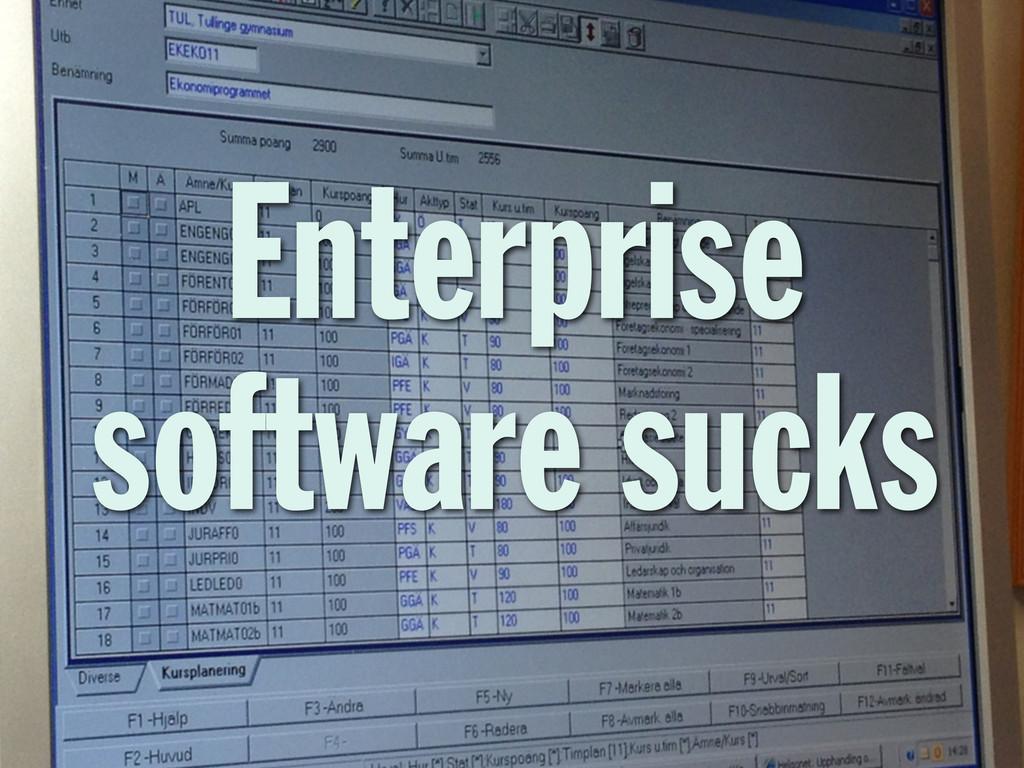 Enterprise software sucks