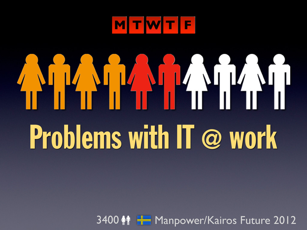 Problems with IT @ work 3400 Manpower/Kairos Fu...