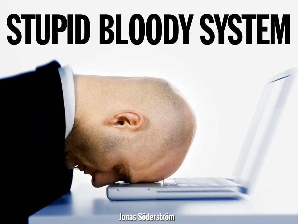 STUPID BLOODY SYSTEM Jonas Söderström