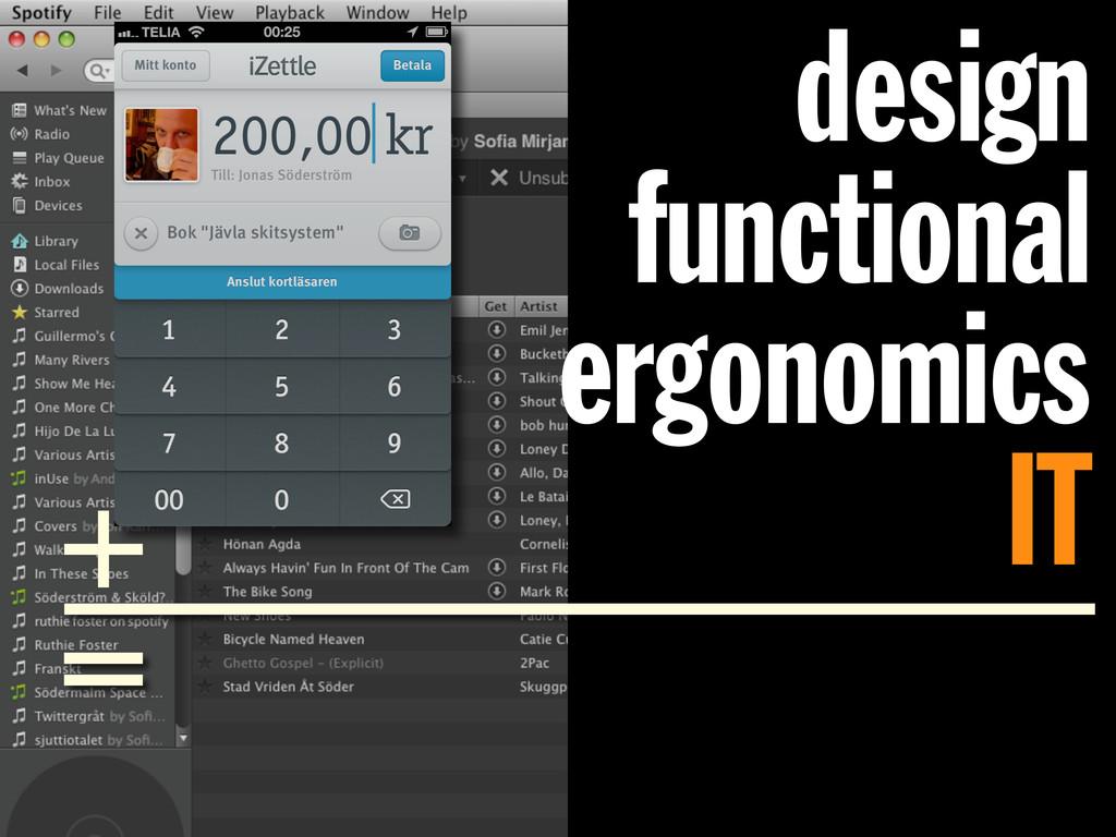 design functional ergonomics IT