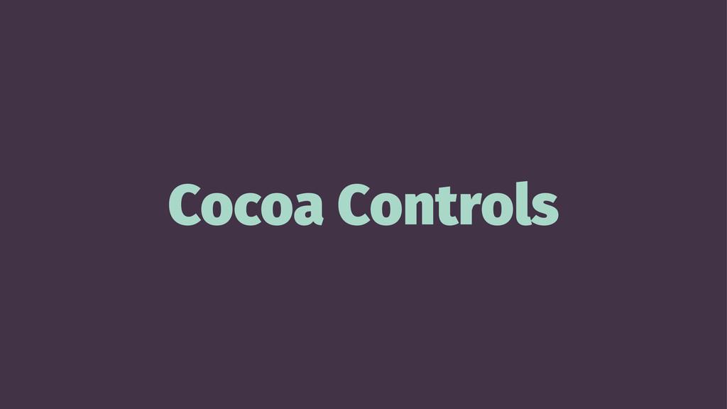 Cocoa Controls