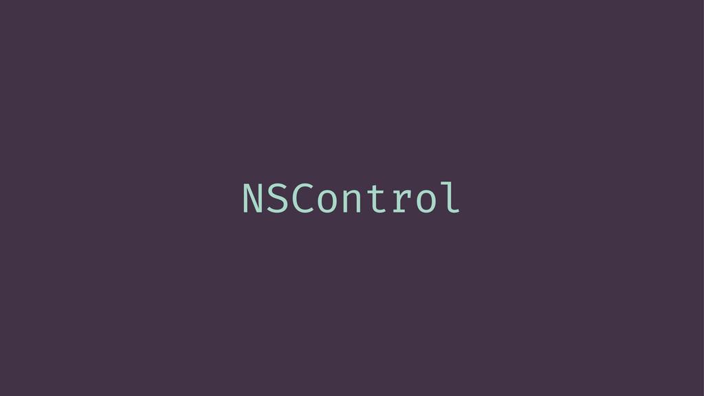 NSControl
