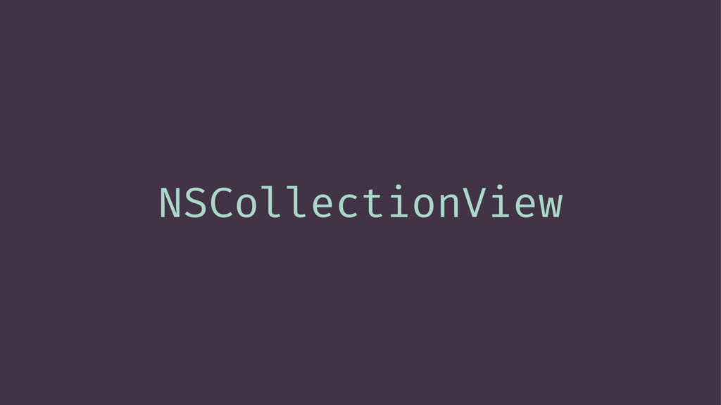 NSCollectionView