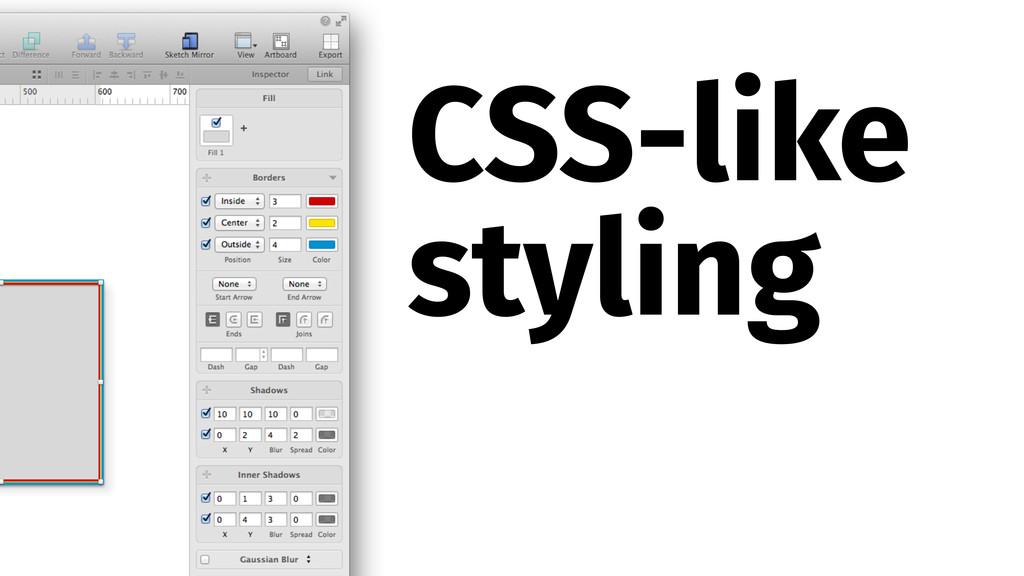 CSS-like styling