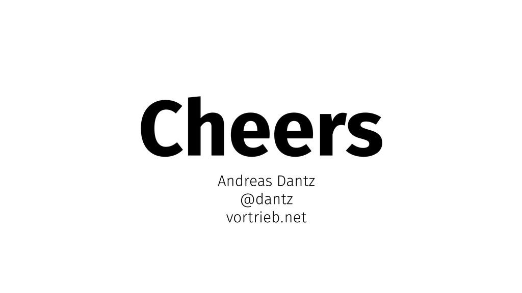 Cheers Andreas Dantz @dantz vortrieb.net