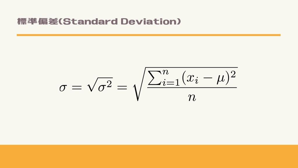 標準偏差(Standard Deviation)