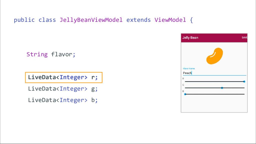 public class JellyBeanViewModel extends ViewMod...