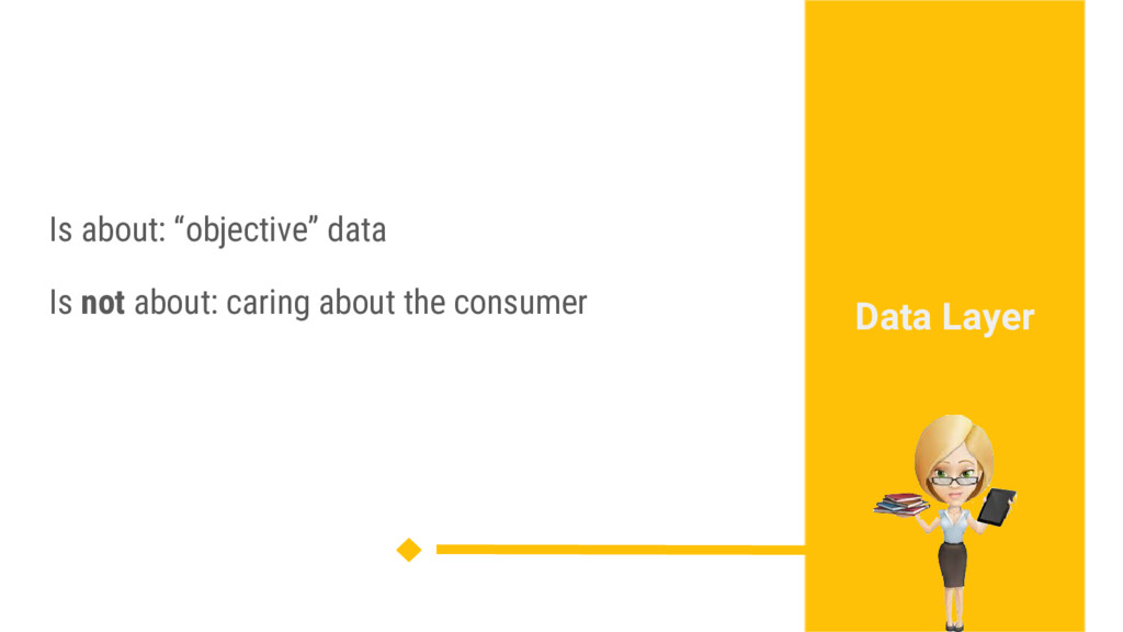 "Is about: ""objective"" data Is not about: caring..."