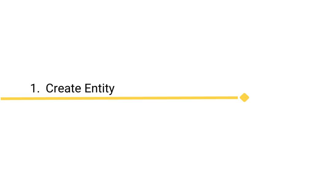 1. Create Entity