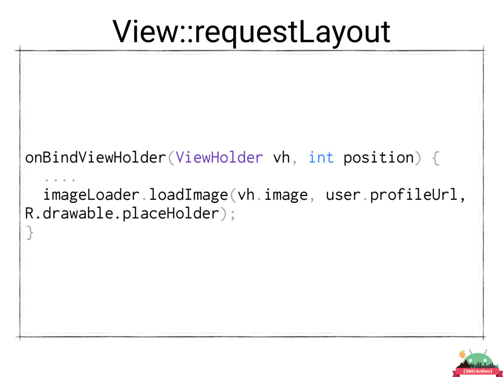 View::requestLayout onBindViewHolder(ViewHolder...