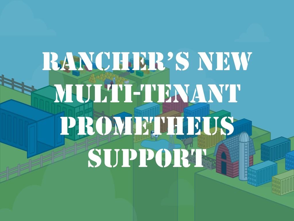 RANCHER'S NEW MULTI-TENANT PROMETHEUS SUPPORT