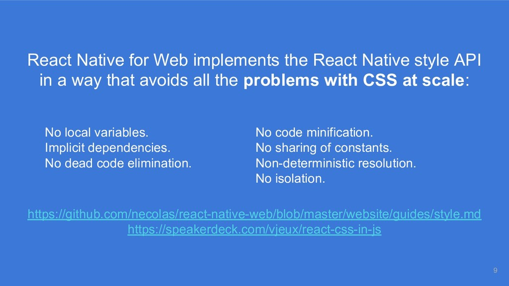 React Native for Web implements the React Nativ...