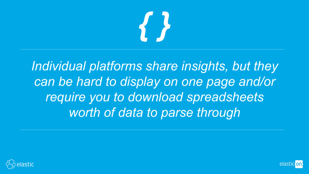 { } Individual platforms share insights, but th...
