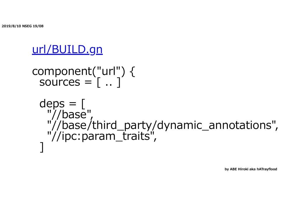 """2019/8/10 NSEG 19/08 url/BUILD.gn component(""""ur..."""