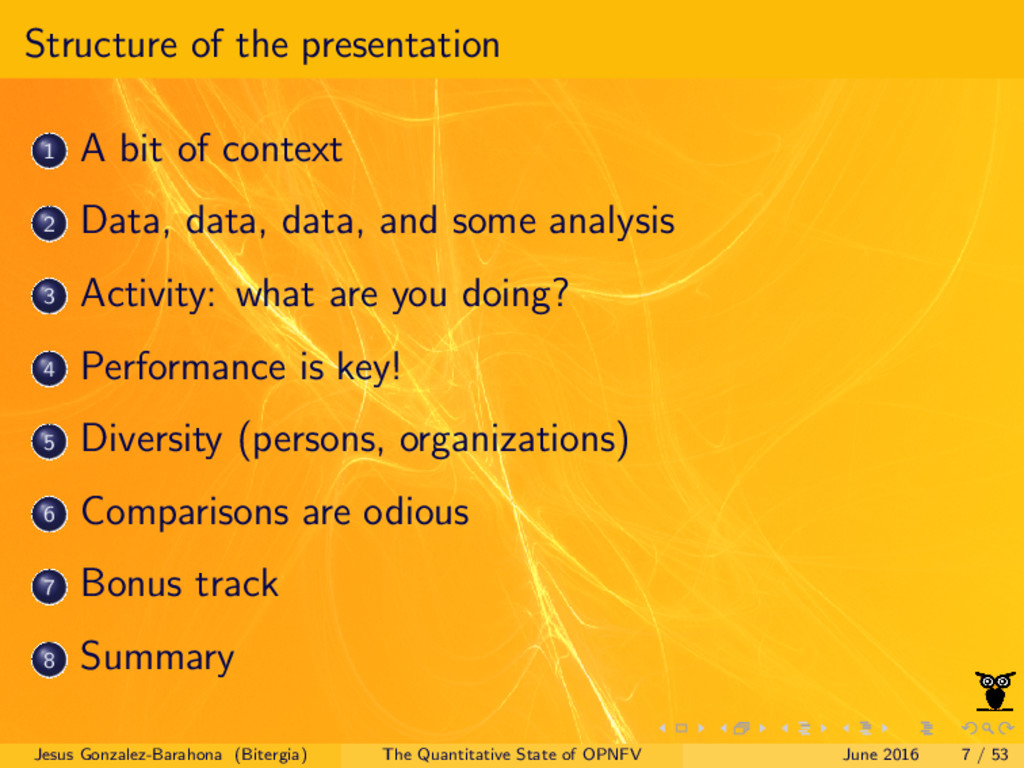 Structure of the presentation 1 A bit of contex...