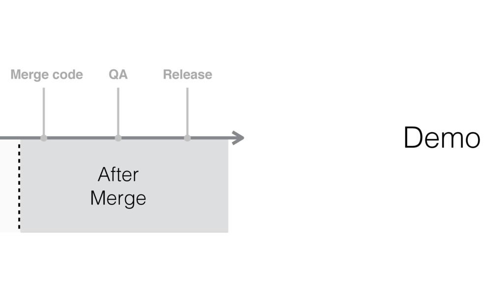 Merge code QA Release After Merge Demo