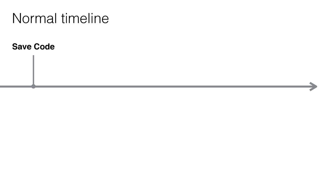 Save Code Normal timeline