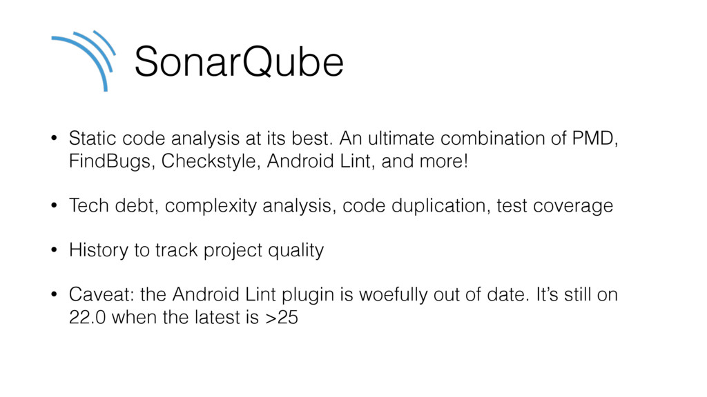 SonarQube • Static code analysis at its best. A...