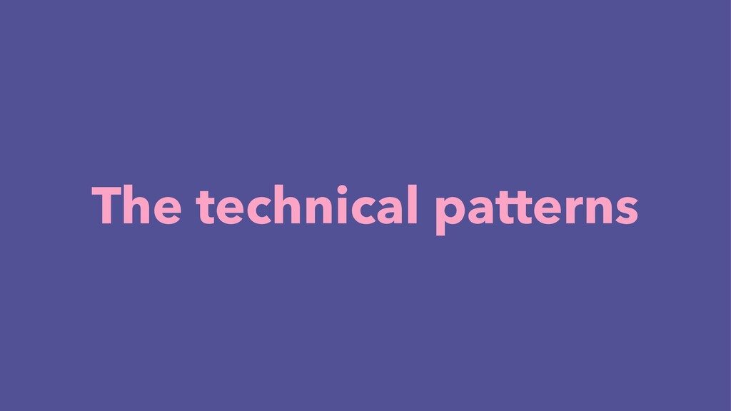 The technical patterns