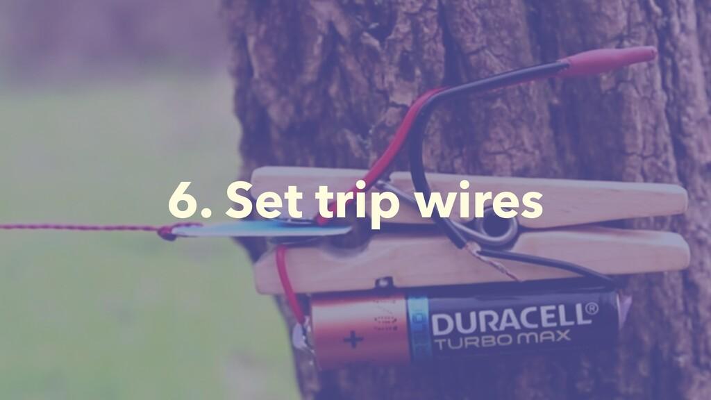 6. Set trip wires
