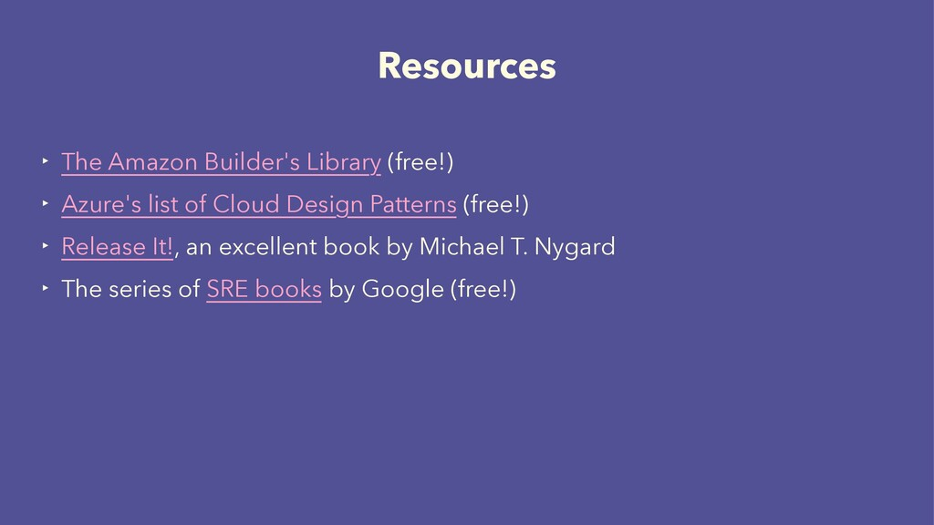 Resources ‣ The Amazon Builder's Library (free!...