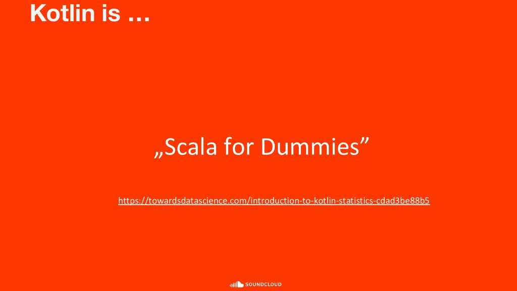 "Kotlin is … ""Scala for Dummies"" https://towards..."