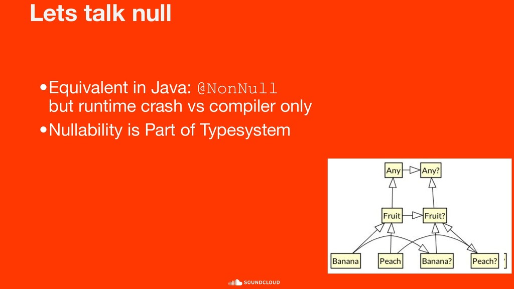 Lets talk null •Equivalent in Java: @NonNull bu...