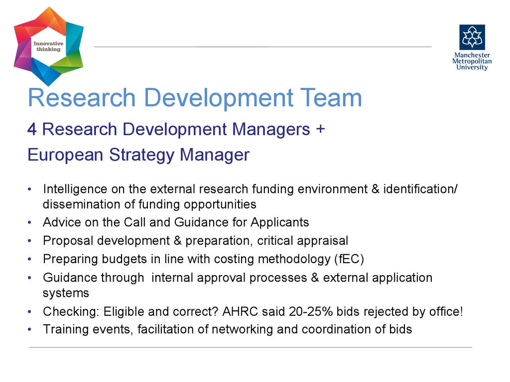 Research Development Team  4 Research Develo...