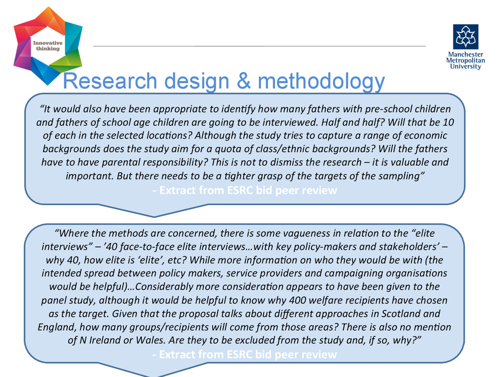 """Research design & methodology  """"It would..."""