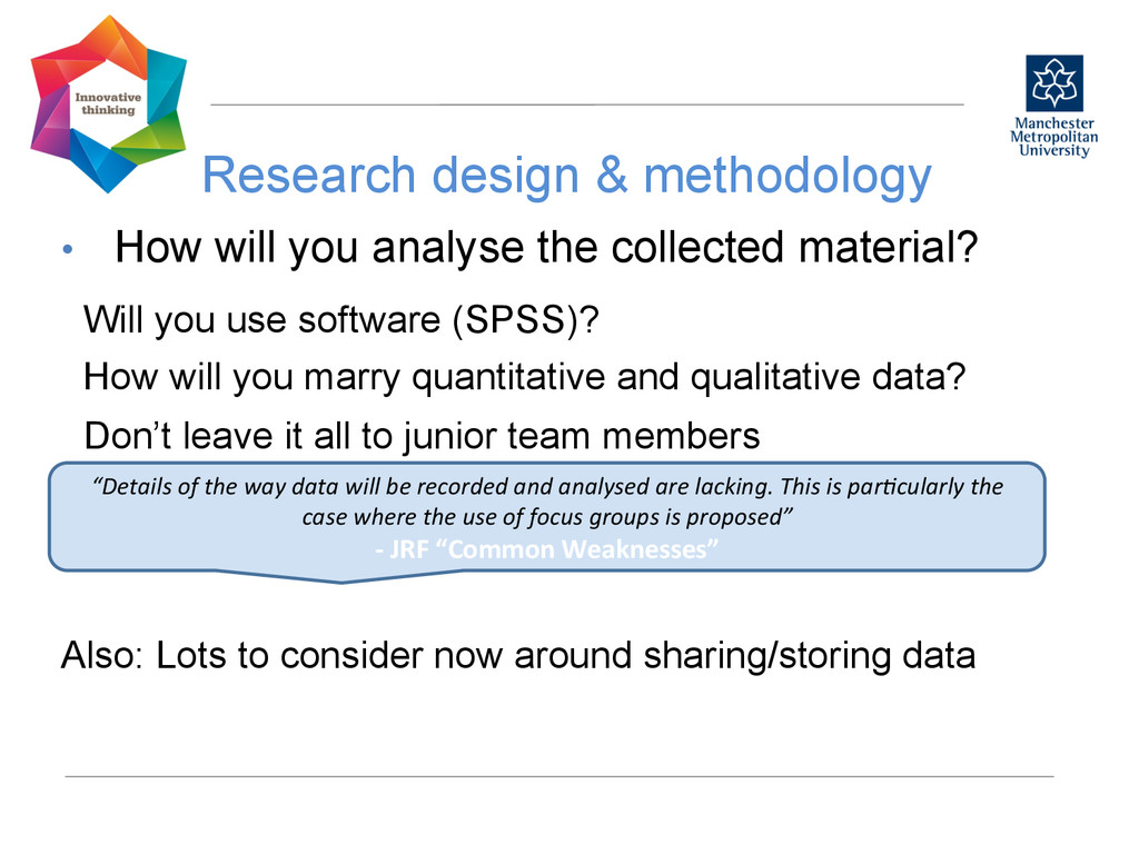 Research design & methodology  • How will y...