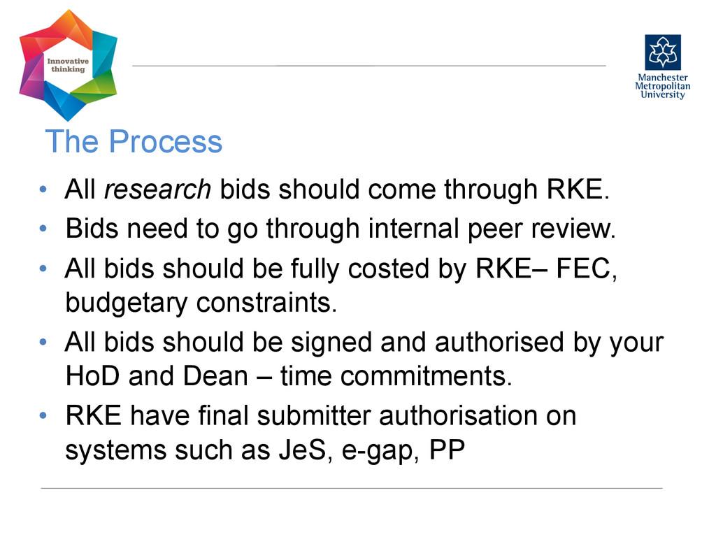 The Process  • All research bids should com...