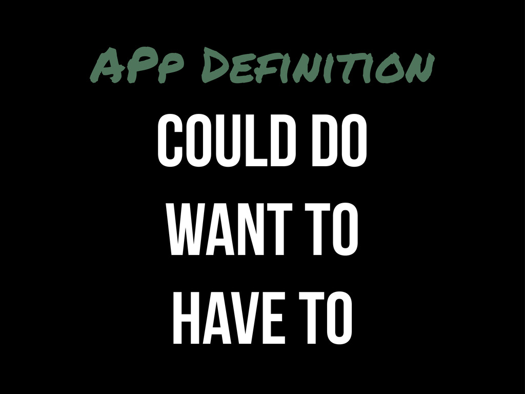 APp Definition COULD DO WANT TO HAVE TO