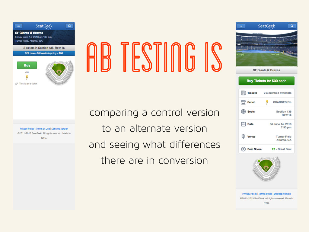 ab testing is comparing a control version to an...