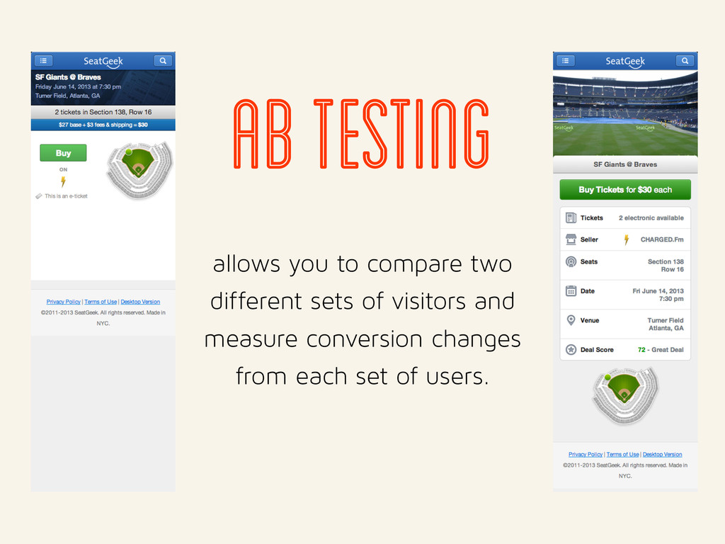 ab testing allows you to compare two different ...
