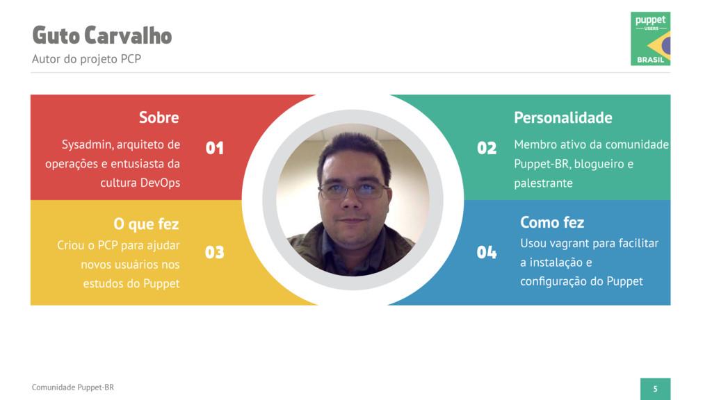 Guto Carvalho Autor do projeto PCP Comunidade P...