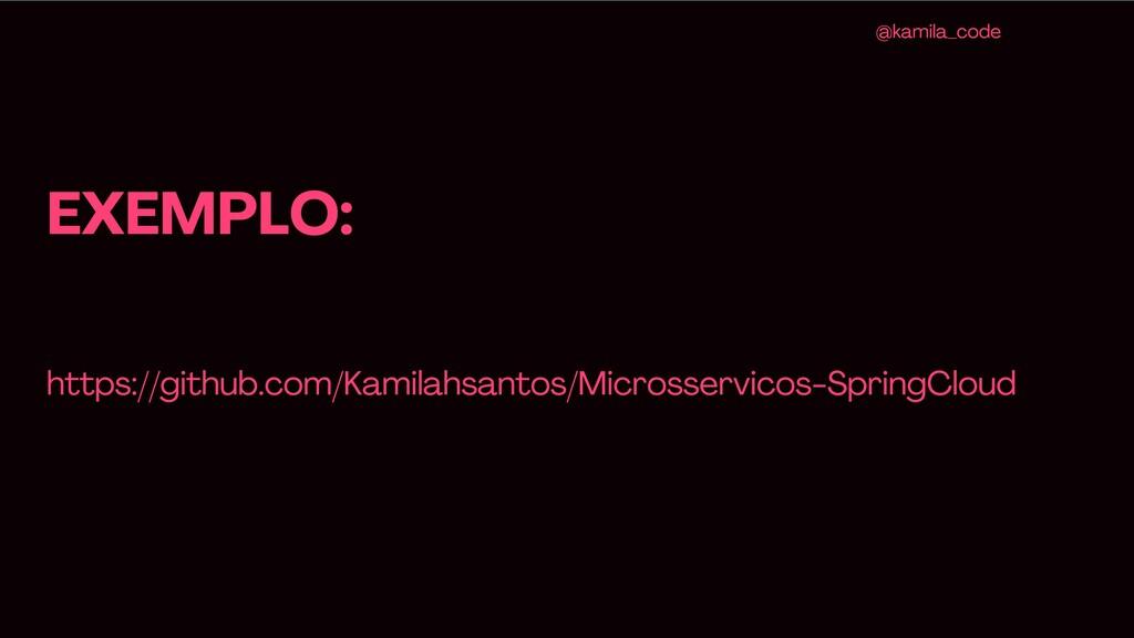 EXEMPLO: @kamila _code https ://github .com /Ka...