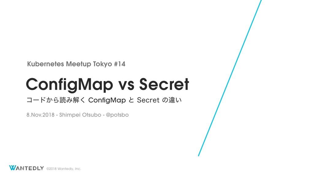 ©2018 Wantedly, Inc. ConfigMap vs Secret ίʔυ͔Βಡ...